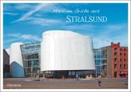 Postkarte Maritime Grüße aus Stralsund