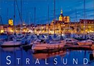 Postkarte Stralsund Abendlicht