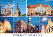 Postkarte Hansestadt Stralsund