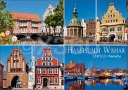 Postkarte Hansestadt Wismar UNESCO-Welterbe