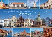 Postkarte Sonnige Grüße aus der Hansestadt Wismar