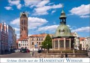 Postkarte Schöne Grüße aus der Hansestadt Wismar