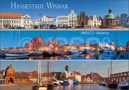 Postkarte Hansestadt Wismar UNESCO Welterbe