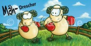XL-Postkarte Lotte & Kalle Mäh-Drescher