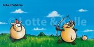 XL-Postkarte Lotte & Kalle Scha(r)fschütze
