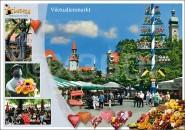 Postkarte Viktualienmarkt