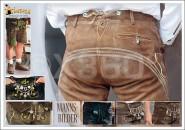 Postkarte Mannsbilder Lederhosen