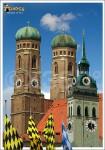 Postkarte Dom Flaggen