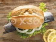Metallmagnet Fischbrötchen