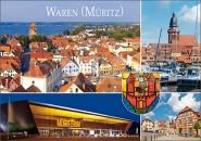 Postkarte Gruß aus Waren