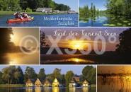 Postkarte Land der tausend Seen