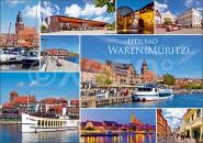 Postkarte Heilbad Waren (Müritz) Mischkarte