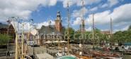 XL-Postkarte Leer Museumshafen