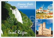 Postkarte Sonnige Grüße Insel Rügen