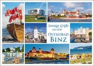 Postkarte Sonnige Grüße Ostseebad Binz