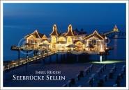 Postkarte Insel Rügen Seebrücke Sellin