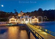 Postkarte Ostseebad Sellin im Abendlicht
