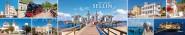 Panoramapostkarte Ostseebad Sellin