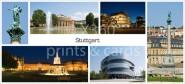 XL-Postkarte Stuttgart Impressionen