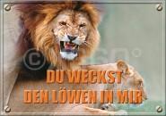 Postkarte Du weckst den Löwen in mir