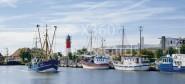 XL-Postkarte Büsum Schiffe