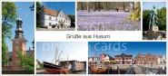 XL-Postkarte Husum Impressionen