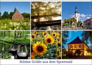 Postkarte Spreewald Mosaik