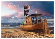 Postkarte Insel Usedom Boot
