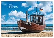 Postkarte Insel Usedom Boot