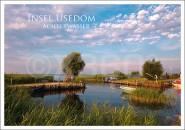 Postkarte Insel Usedom Achterwasser
