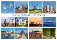 Postkarte Sonneninsel Usedom
