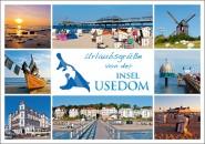 Postkarte Urlaubsgrüße Insel Usedom