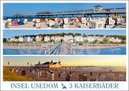 Postkarte Insel Usedom 3 Kaiserbäder