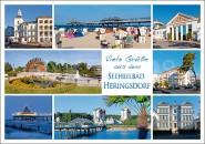 Postkarte Grüße Seeheilbad Heringsdorf