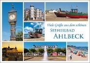 Postkarte Viele Grüße Seeheilbad Ahlbeck