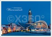 Postkarte Ostseebad Warnemünde Teepot mit Leuchtturm