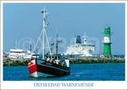 Postkarte Ostseebad Warnemünde