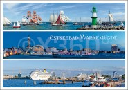 Postkarte Warnemünde (3 Panoramen)