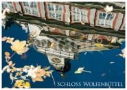 Postkarte WF Schloss gespiegelt