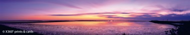 Panoramapostkarte Sonnenuntergang