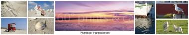 Panoramapostkarte Nordsee Impressionen