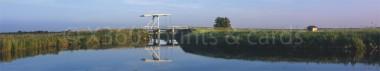 Panoramapostkarte Fehnbrücke
