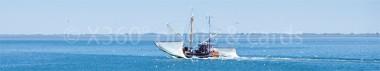 Panoramapostkarte Krabbenkutter
