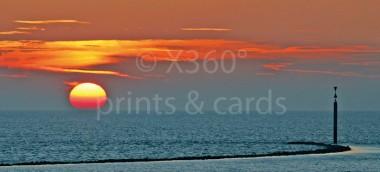 XL-Postkarte Sonnenuntergang