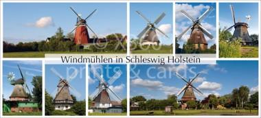 XL-Postkarte Windmühlen SH