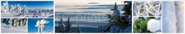 Panoramapostkarte Winter Impressionen