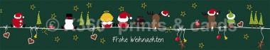 Panoramapostkarte Frohe Weihnachten