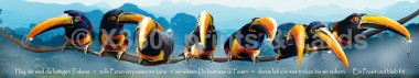 Panoramapostkarte Turkane