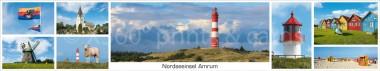 Panoramapostkarte Amrum allgemein