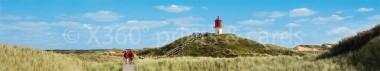 Panoramapostkarte Amrum kleiner Leuchtturm